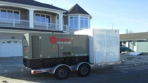 Electric Heater Rental Flood Dry Out Trailer