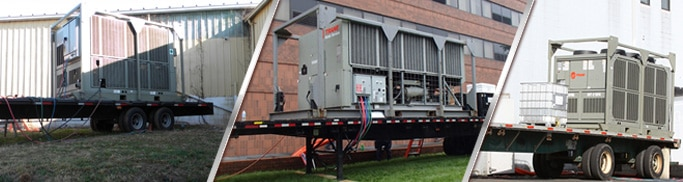 Charlotte NC Air Cooled Water Chiller Rentals 10 Tons 25