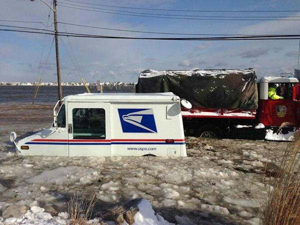 USPS-Mail-Truck-Flooding-Monmouth-beach-NJ