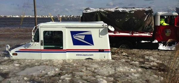 Monmouth-Beach-NJ-Mailman-Truck-Flooded-Jan-2014