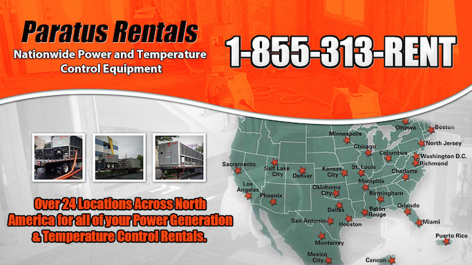 24 Locations Across North America for your Chiller Rental needs in Fulton Ferry, NY