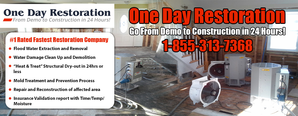 Flood Water Damage Restoration NJ